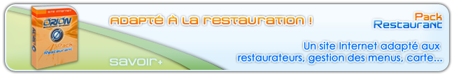 Pack site Internet pour restaurant Par ORION